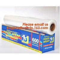 Newly design household food grade excellent quality factory price cling film, pe food plastic wrap Manufactures