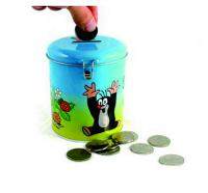round coin bank tin box Manufactures