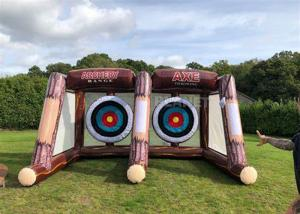 Interactive Sport Shooting Games Inflatable Axe Throwing Sticky Tossing Game For Adult And Kids Manufactures