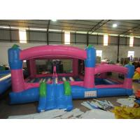 Kids Outdoor Custom Made Inflatables Bounce House Combo 0.55mm Pvc Tarpaulin Manufactures