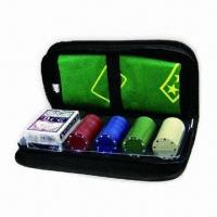 poker set,PU Leather Organizer Set for Playing Cards, OEM Designs are Welcome Manufactures