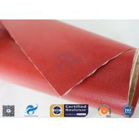 Buy cheap Chemical corrosion 1m*50m Satin Weave 0.45mm Silicone Coated Fiberglass Fabric from wholesalers