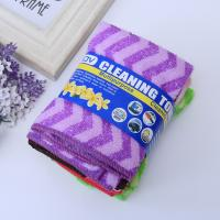 European-style daily necessities export ultra-fine cellulose-colored striped rags, absorbent, non-stick oil, thick, easy Manufactures