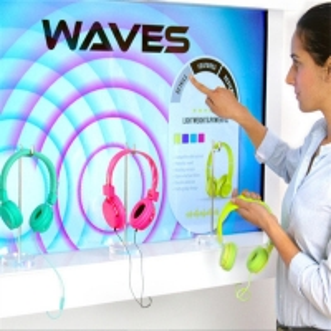 Sensing Technology Interactive Showcase Digital Display For Retail Shop Manufactures