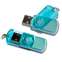 Green / Blue Plastic Swivel USB Flash Drive , Swivel Memory Stick  55*15*10mm Manufactures