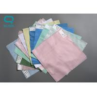 Buy cheap 100% Polyester Anti Static Fabric Plain Dyed Pattern For Cleanroom Smock from wholesalers