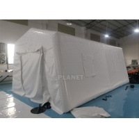 6m Portable Red Cross Inflatable Medical Emergency Tent For Outdoor Manufactures
