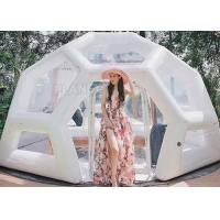 Waterproof 0.8mm Inflatable Bubble Tent For Camping Hotel Manufactures