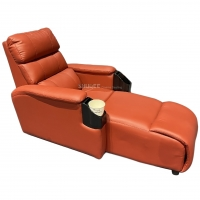 Luxury Genuine Leather Chair Home Cinema Seats VIP Sofa With Inclined Cup Holder Manufactures