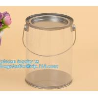 100ml pet clear plastic can,fruit candy tin container jars with aluminum lid,1 gallon clear paint can size bagease pack Manufactures