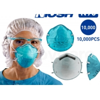8210 1860s Surgical 3M 1860 Cone 99% BFE Flat Fold N95 Face Mask Manufactures