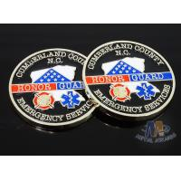 Craft Die Cast Brass Challenge Coin , Small 3D Challenge Coins With Epoxy Manufactures