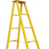 A shape ladder assemble by fiberglass square tube Manufactures