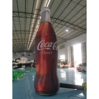 ASTM 4m Tall Advertising Inflatable Coca Cola Bottle Manufactures