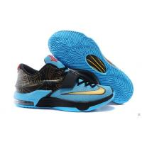 Buy cheap Sell Shox Nike KD VII Blue Black Golden Shop Wholesale from wholesalers
