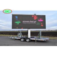 China Outdoor Mobile Commercial LED Display Advertising Billboard Trailer on sale