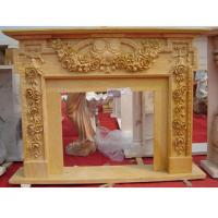 Beige marble fireplace mantel Manufactures