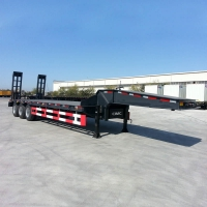 China Flat Deck Hydraulic 100Ton Low Loader Semi Trailer on sale