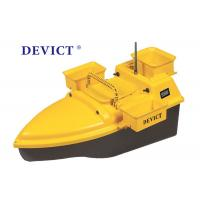 Buy cheap DEVC-203 RC Fishing Bait Boat Yellow ABS Plastic 4-5 Class Wave Resistance from wholesalers