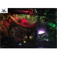Full Size Garden Statues Moving Dinosaur Models With Light , Realistic Raptor Dinosaur  Manufactures