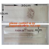 OEM High Quality Enviromental Clear Window Bread Toast Paper Bags, Brown Kraft Sharp Bottom Food Safe Snack Paper Bags w Manufactures