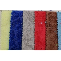 80% polyester 20% nylon strong absorbent towel fabric, warp knitted polyester and nylon double-sided cleaning fabric Manufactures