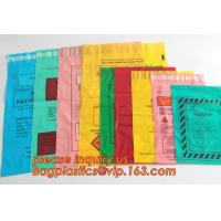 China Plastic Autoclavable Biohazard Waste Bags Environmental Intaglio Printed Packaging on sale
