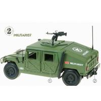 China Green Plated Home Decor Crafts , Electronic Military SUV Vehicles Model on sale