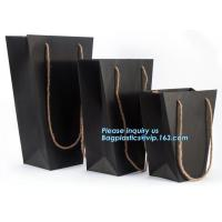 Flower carrier bag with different color customized pot plants kraft paper bag with handle,stamping logo fancy paper flow Manufactures
