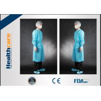 Non Toxic Disposable Surgical Gowns Non-sterile Customized Size With Tie/Hook And Loop Manufactures