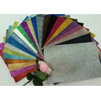 "1/128"" Glitter Mixed Colors PU Glitter Fabric PU Cloth Backing For Christmas Box Manufactures"