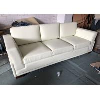 3 Seater Hotel Furniture Sleeper Sofa Handcrafted Microfiber Leather Manufactures