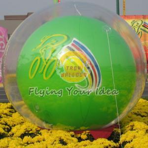 Reusable Versatile Digital Printing Green Inflatable Helium Ballon, Inflate Ground Balloon Manufactures