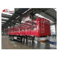 Cargo Stake Side Wall Semi Trailer 60T Heavy Duty Load With Longer Service Life Manufactures