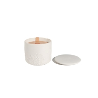 Ceramic Jar Wood Wick Scented Candles Long Lasting Manufactures