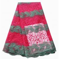 Buy cheap Beautiful olive green lace two-color big fabric stripy 5 yard african lace from wholesalers