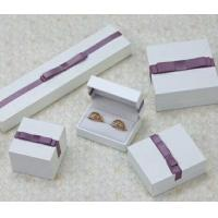 Velvet Or Leather Inside Paper Jewelry Boxes For Pierced Earrings / Pendant Manufactures