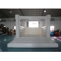 Outdoor Jumping Bouncer Inflatable Wedding Bouncy Castle White Bounce House For Adults And Kids Manufactures