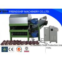 China PU Sandwich Panel Discontinuous Production Line  Layers  Steel And Polyurethane on sale