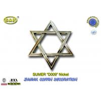 Buy cheap zamak david star silver color D009 Jewish coffin decoration metal accessories from wholesalers