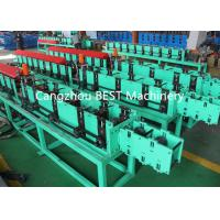 Buy cheap Fenestrated Shutter Door Frame Roll Forming Machine 5.5kw Power PLC Control from wholesalers