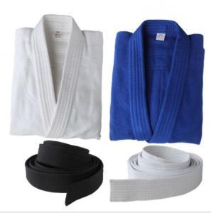 100% Cotton martial arts clothes white bjj gi Kimono judo uniforms Wholesale Bamboo cotton judo Uniforms Manufactures