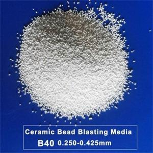 JZB40 Ceramic Blasting Media Zirconium Silicate Beads For Light Metal Alloy Manufactures