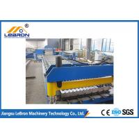 New blue color corrugated roof sheet roll forming machine / corrugated roof roll forming machine Manufactures
