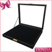 Lockable Jewellery Organiser Collector Jewelry Dividers Ring Earrring Storage Jewelry Organizing Trays with PVC Window Manufactures