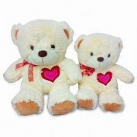 Bear-shaped Baby Plush Toys with Nightcap, Customized Colors and Designs are Welcome Manufactures