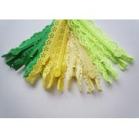 Custom Length Double Sided Sewing Notions Zippers , Nylon Lace Zipper For Clothes Manufactures