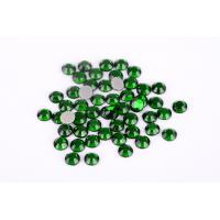 Green Color Lead Free Rhinestones Environmentally Friendly For T Shirt / Nail Art Manufactures