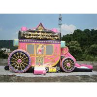 Princess Carriage Inflatable Bouncy Castles With Lead Free PVC Tarpaulin Material Manufactures