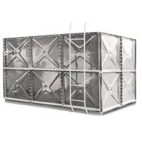 Modular Overhead Galvanized / Sectional steel Water Tank Elevated water tank Manufactures